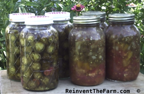 Jalapenos canned in honey and canned salsa